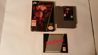 A Nightmare on Elm Street NES (Cart, Manual, Box) Excellent Condition Authentic