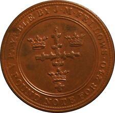 NOTTINGHAM. J.M. FELLOWS & CO. PENNY TOKEN 1813. W. 950