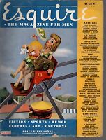 1944 Esquire August - Connie Mack; Why get a divorce? Sultan of Swindlers; Jazz