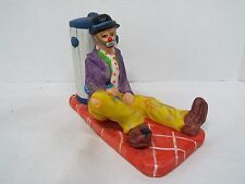 Emmett Kelly Jr. Collection Flambro Cown W/ Bottle & Can Figurine Signed