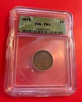 1875 ICG FR 2 DETAILS INDIAN HEAD ONE CENT