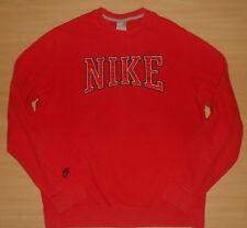 Nike Sportswear Swaetshirt Nike Pullover mit Schrift-Firmen-Logo rot M=Gr.50