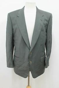CANALI FOR ANDROS Men's Grey Green Checked Wool Suit Jacket Size UK40 IT50