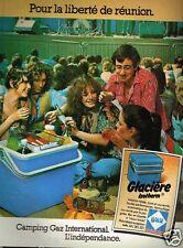 Publicité advertising 1979 La Glacière Isotherm Camping Gaz
