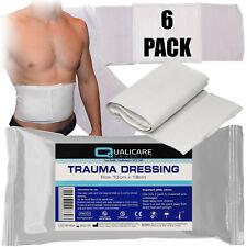Qualicare 10cm x 18cm trauma FFD ferita benda SANGUE emorragia medicazione x 6