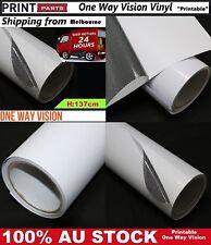 50CM X 1.37M White One Way Vision Printable Vinyl Film Tint Car Vehicle Window
