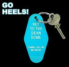 """KEY TO THE DEAN DOME"" North Carolina Tar Heels KEY TAG basketball UNC Smith NEW"