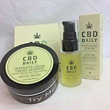 CBD Daily Intensive Cream 1.7 oz & Soothing Serum 2 oz Duo Pack Ships Free