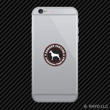 Danger Farting Doberman Pinscher Cell Phone Sticker Mobile Die Cut
