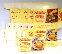 Lot of 12 Vintage HALL BROTHERS DAIRY FARMS Butter Boxes 1960's Kitchen Decor