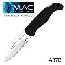 Knife Coltello Barca Nautico MAC Coltellerie A87B-N MADE IN ITALY Maniago RESCUE
