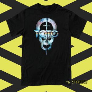 TOTO Band Logo Men/'s Black T-Shirt S to 3XL