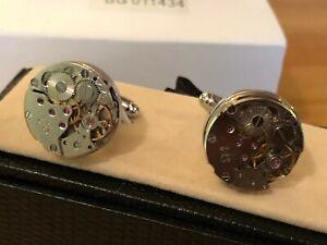 Time (Clockwork) Cufflink Pair in Box