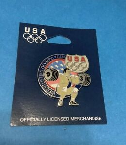 2004 ATHENS SUMMER OLYMPICS TEAM USA WEIGHTLIFTING COLLECTOR PIN