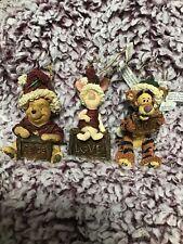 Rare Disney Exclusive Boyd's Christmas Ornament Tigger Winnie The Pooh Piglet