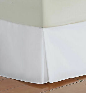 1 PC Bed Skirt All US & RV Size Select Drop Length White 1000 TC Egyptian Cotton