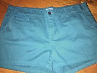 Merona Cotton Blend Chino Cute Style Women's Shorts Size 16 !