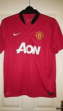 Mens Football Shirt - Manchester United - Home 2013-2014 - Nike - Size L - Red