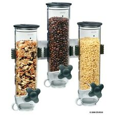 SmartSpace Cereal Snack Canister Triple Wall Mount Dry Food Container Dispenser