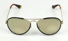 Guess Sonnenbrille Aviator Pilot GU7416 32C Metall Gold Schwarz verspiegelt