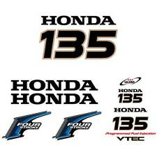 Honda 135 four stroke outboard decal aufkleber adesivo sticker set