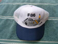 F86 Sabre Plane Vintage Snapback Cap Foam Front B & D Discount Made In The USA