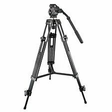 Weifeng WF-717 1.3m Professional Heavy Duty Video Camcorder Tripod + Fluid Head