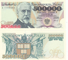 POLAND banknote 500000 zl zlotych Henryk SIENKIEWICZ red face value  UNC