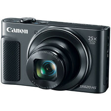 Canon PowerShot SX620 HS 20.2MP Digital Camera, 25x Optical Zoom & Wi-Fi - Black