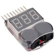 1-8S Lipo/Li-ion/Fe Battery Voltage 2IN1 Tester Low Voltage Buzzer Alarm B2AD
