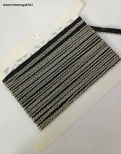 5m x 5mm banda elástica negro prueba de ebullición 75/% poliéster 25/% elastano