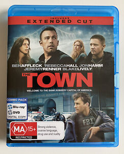 The Town - Extended (Blu-ray + DVD) Region Free Ben Affleck Jon Hamm Like New!