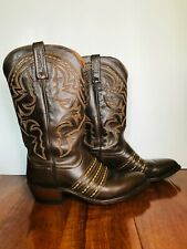 Vintage 1883 by Lucchese Brown Leather Western Cowboy Boots, Size 8 2E EXCELLENT