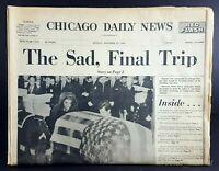 Nov 25 1963  JFK Kennedy Funeral Newspaper Chicago Daily News, 50 Pgs