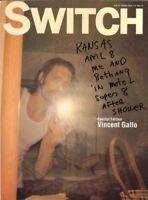 Switch Magazine Vol.17 book Vincent Gallo photo art