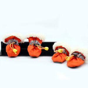 4pcs Waterproof Pet Dog Winter Spring Warm Snow Booties Anti-Slip Boots Shoes
