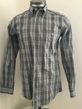 Lacoste Dress Shirt Long Sleeve Button Front Down Plaid Check Multi-Color 39