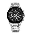 Curren 8084-2-Silver/Black/Black Stainless Steel Watch