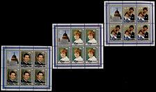 Niue 357-9 sheets MNH Prince Charles Princess Diana, Royal Baby o/p
