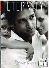 """Publicité Advertising 2001 Parfum pour Homme et Femme """"Eternity"""" Calvin Klein"""