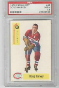 1958-59 Parkhurst Doug Harvey PSA 7.5 # 49 NM+ Montreal Canadiens