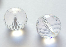 2 Swarovski  5003 16mm Clear Crystal Disco Ball Beads