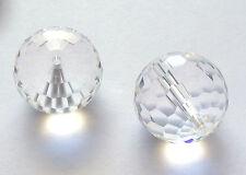 2 Swarovski  5003 16mm Clear Crystal Disco Ball Beads