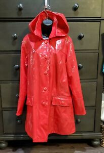 Weather Solutions Red Rain PVC Jacket,Coat Size M