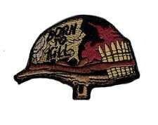 Born to Kill Full Metal Jacket Helmet Embroidered Hook Patch