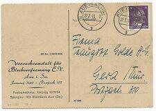 Germany Saxony Michel #785b Postal Card Aueisachsi July 22, 1945 Hitler Head