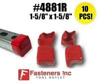 (Qty 10) Plastic Red Safety End Caps Unistrut Channel 1-5/8'' #4881R P2860-10