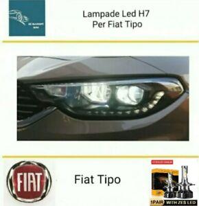 Kit Led H7 ZES 6000k 12000LM Anabbaglianti Fiat Tipo Canbus No Error White