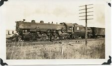6A921 RP 1937 UNION PACIFIC RAILROAD  ENGINE #5004 DRAG OUT OF TOPEKA GOOD GAIT