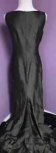 Pamela Dennis Gray Long Dress Gown Train Size 8